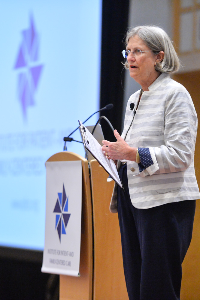 Bev Johnson speaking at conference