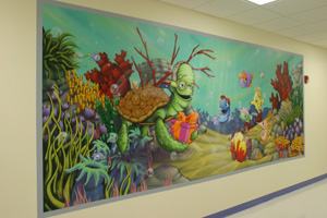 Mural on wall in Children's Mercy