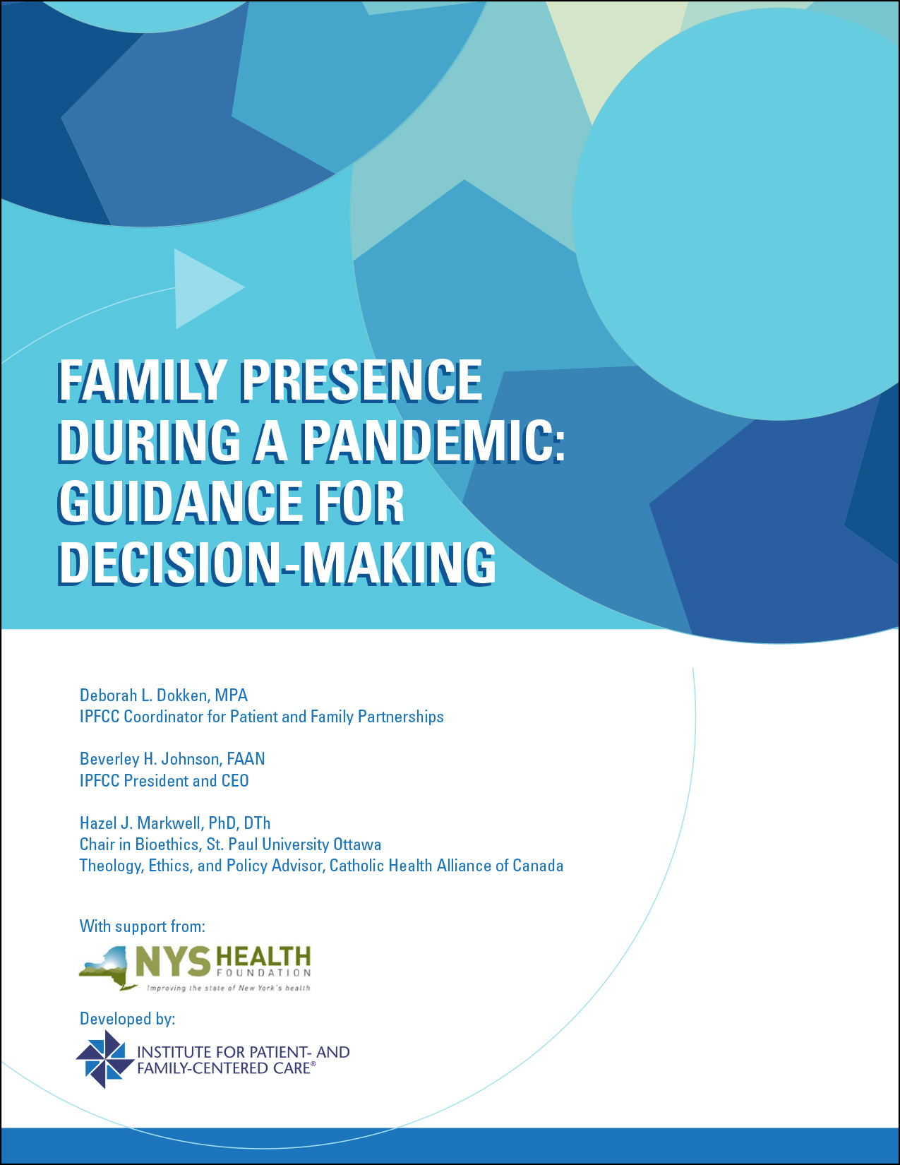 Family Presence During a Pandemic: Guidance for Decision-Making cover