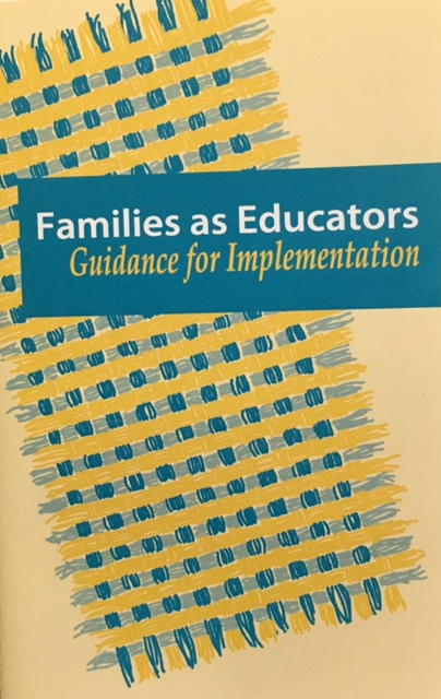Families as Educators: Guidance for Implementation cover