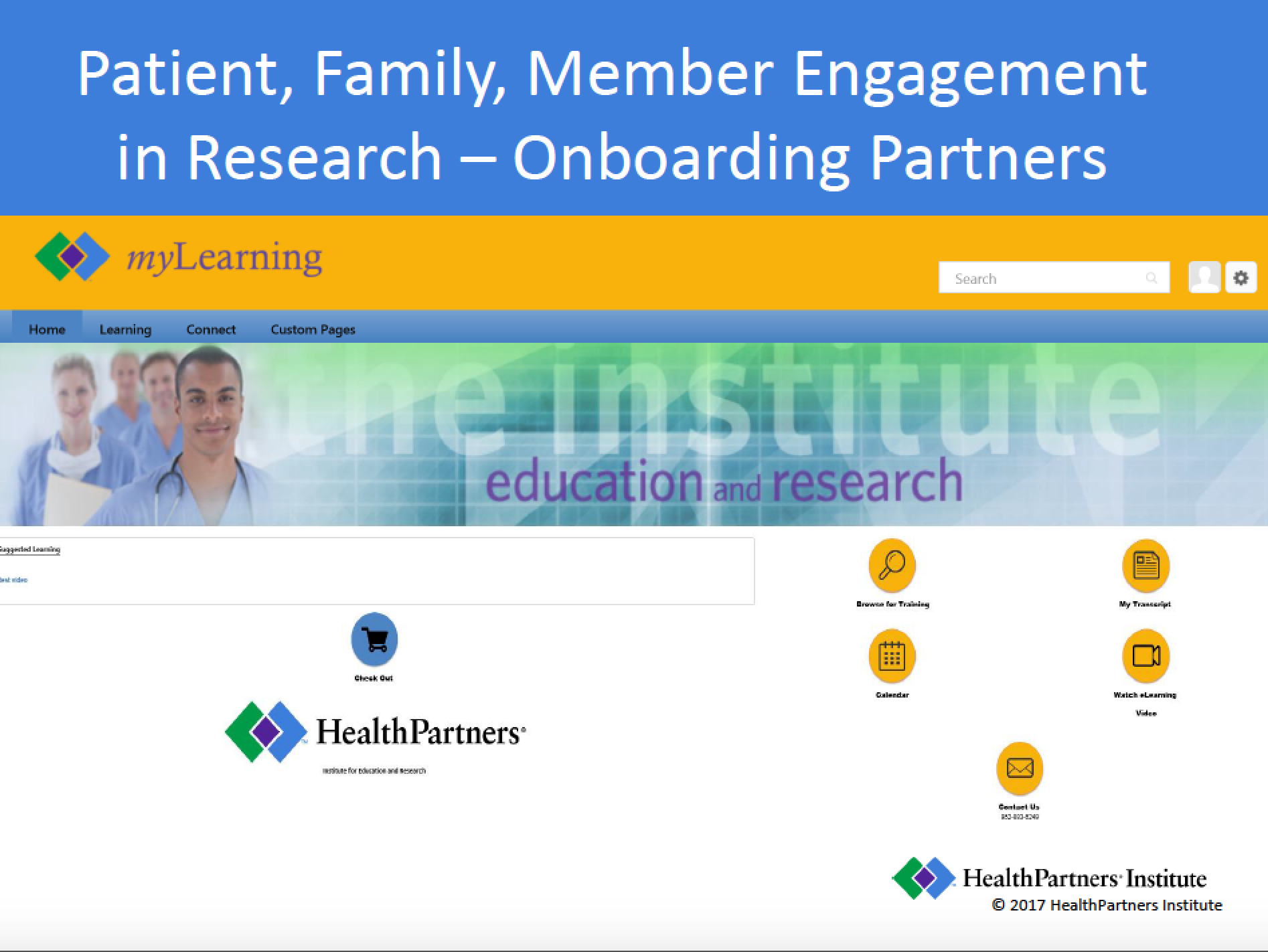 Patient, Family, Member Engagement in Research - Onboarding Partners