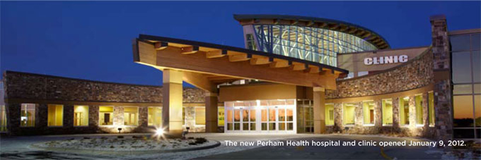 exterior view of Perham Memorial Hospital