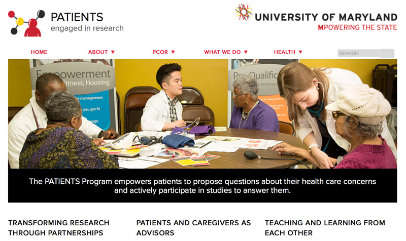 University of Maryland PATIENTS program